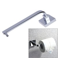 Wholesale Copper Shelves - Copper Chrome Bathroom Wall Mounted Toilet Paper Holders Tissue Roll Holder Shelf Rack Bathroom Accessories