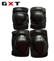 Wholesale Motocross Safety Gear - 4pcs lot 2017 NEW Safety moto Elbow Knee Pads+elbow pads Motorcycle Motocross Protective kneepad Gear Protector Sportswear