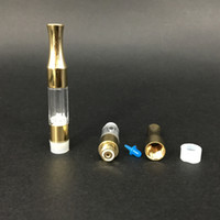 Wholesale Gold Top Oem - OEM logo Thick oil e cigarette vape pen tank G2 atomizer concentrate oil clearomizer 510 cartridge Gold metal tip 0.5ml Top qaulity