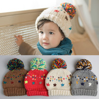 Wholesale Wholesale Face Hat Kids - kids winter hats fleece cover face Beanie hat Skul brand Thickening velvet colorful pompo knit caps designer sport cap keep warm