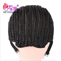 Wholesale Wholesale Sexy Wigs - Best Sale Cornrow Wig Caps For Making Sexy Hair Products With Adjustable Strap Synthetic Hair For Braiding Wig Cap Crochet Hair
