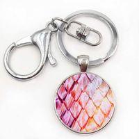 Wholesale Dragon Boys Rings - Wholesale Glass Dome keychain Dragon Egg Pendant Game of Thrones Dragon Egg key ring