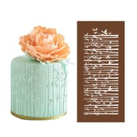 Wholesale Stencils Cakes - Bamboo forest Mesh stencil for Fondant Cake Decorating Cake Stencils Template Wedding Cake Decorations Kitchenware 12