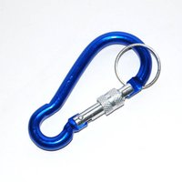 Wholesale Mixed Nuts - High Quality Bold Locking Type Gourd-shaped Quickdraw Carabiner Buckle Hanging Aluminum Nut Backpack Buckle 7Color MIX Camping Equipment