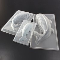 Wholesale Fish Cakes - Wholesale- Carp Cyprinoid Fish 3D Cake Chocolate Mould Jelly Sugarcraft Mold Tool Kitchen