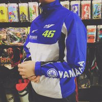 Wholesale moto gp jacket - Brand New Valentino Rossi For VR46 Moto GP Soft Shell Jacket Yamaha Coat Waterproof racing jacket free shipping