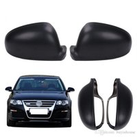 Wholesale Side Door Mirror Covers - 2x Black Primed Door Side Rearview Mirror Cover Cap For VW Golf Rabbit Jetta MK5 MK6 Passat B5.5 EOS GTI #P416