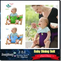 Wholesale Portable Baby Dining Belt Infant Chair Seat Product Stretch Wrap Safty Cotton Belt Harness Baby Carrier