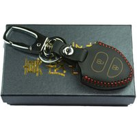 Wholesale Toyota Highlander Leather Key Cover - Leather key skin cover case for TOYOTA Corolla Hilux Vitz Vios Camry Highlander Land Cruiser Pardo remote