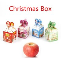 Wholesale Apple Candle Favors - Christmas Apple Box Home Romantic Party Decorations Scented Candles Birthday Wedding Favors Gifts Ornament Box DHL free