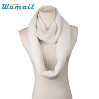 Ring Scarf Women Wholesale- Womail Fashion Solid Color Scarves Ring Loop Women Infinity Scarf For Ladies Shawl Cheap Scarfs 2016 Gift 1pcs