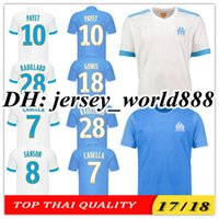 Wholesale Marseille Football Jersey - Top Thai quality 17 18 Olympique de Marseille white Home soccer Jersey GOMIS CABELLA PAYET SANSON 2017 Marseille Away blue football shirts
