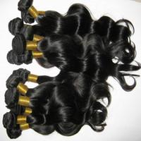 color de pelo para las mujeres asiáticas al por mayor-Las mujeres asiáticas sin procesar pelo de la onda del cuerpo de Malasia del pelo humano tejer 3 lotes / lote 300g precio de salida de fábrica Enredo libre