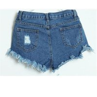 Wholesale Most Skinny - Wholesale- The most Women Vintage High Waist Jeans Hole Short Jeans Denim Shorts