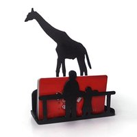 Wholesale Iron Art Storage Holder Shelf for Sundries Tissue Napkin Paper Towel Notebook Document CD Envelope Giraffe Pattern