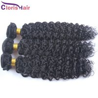 Wholesale Hair Colour Cheap - 2017 Latest Kinky Curly Cambodian Hair Weaves Cheap Ali Queen Bohemian Curl Remi Weft 3pcs 100% Human Hair Extensions Coloured DIY