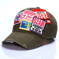 Wholesale Blank Strapback Hats - the United States strapback sports hats embroidery baseball cap for men Cotton ballcaps blank and army green colors