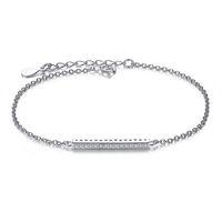 bracelet en acier 925 en argent sterling achat en gros de-BELAWANG pour les femmes authentiques bijoux de mariage cadeau original en argent Sterling 925 européen bracelet à breloques perles de cristal autrichien