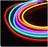 luzes de cabo de led venda por atacado-25 m carretel quadrado 11x19mm tiras led plana luzes de néon flexível led neon lâmpada de corda à prova d 'água 110 V 120 V 127 V