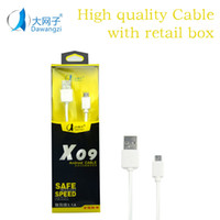 Wholesale Macbook Retail Wholesale - USB Micro Cable Android Charging Cord phone Macbook LG G5 Pixel Sync Data Charging Charger Cable adapte with retail box