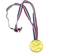 sports party decor - Children Gold Plastic Winners Medals Sports Day Party Bag Prize Awards Toys For party decor