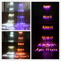 Wholesale Waterfall Decoration Lamp - 2m* 2m LED Waterfall String Light decoration lamp with Controller 110V 220V Christmas Lights Decoration Holiday Party
