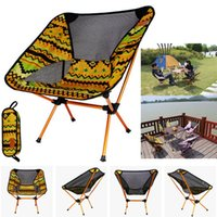 Wholesale New Outdoor Folding Chair Portable Lightweight Camping Leisure Picnic BBQ Beach Fishing Seat Family Car Camping Travel Tool WX H13