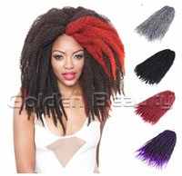 Wholesale quot Afro kinky curly twist braid crochet Hair with synthetic ombre havana mambo twist braid crochet hair extension