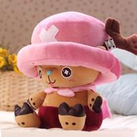Wholesale chopper anime resale online - 100 Official Cm One Piece Plush Toys Chopper Plush Doll Anime Cute Toy Chopper Doll