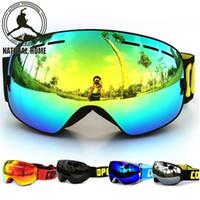 Wholesale Double Lens Snowboard Ski Goggles - [NaturalHome] Brand Ski Goggles Double UV400 Anti-fog 2016 Ski Mask Glasses Skiing COPOZZ Men Women Snow Snowboard Goggles Lens