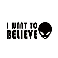 Wholesale I Believe - Car Stying I Want To Believe Alien Car Sticker Vinyl Decals High Quality Car Styling Stickers JDM