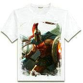 Wholesale Legends Tshirt - Pantheon T shirt the Sparta war king short sleeve League of Legends design tees Lol Game clothing Men cotton Tshirt