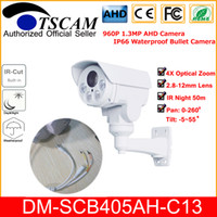 Wholesale 12mm outdoor bullet camera for sale - Group buy TSCAM new HD P MP CCTV AHD Camera DM SCB405AH C13 Array LED IR mm X Optical Zoom Lens Bullet Camera Security Cam