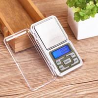 Wholesale Weight Scale Oz - Mini Jewelry Pocket LCD Digital Scale Electronic Scale Weight Scale Backlight 500G 0.01G g tl oz ct CCA6845 100pcs