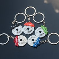 Wholesale Can Brake - Brake disc keychain car modified wheel accessories metal key chain chain company activities gifts can be printed logo S184