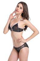 Wholesale Translucent Netting - Lace underwear sexy comfort without stimulation of ultra-thin translucent net yarn temptation embroidery bra set 7636 TZ45A47016D