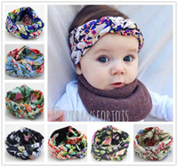 Wholesale wholesaler for braiding hair online - Baby Bohemia Braided Cross Knotted Floral Headbands For Girls Children Flower Imprint Hairbands Headwrap Kids Cotton Hair Accessories KHA418