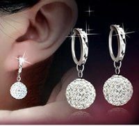 Wholesale Sure White - With diamond stud earrings earrings The princess ball stud earrings eardrop female Without any reason i am sure you will like it very much