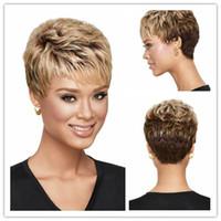 Xiu Zhi Mei 6 Afroamerikanische Blonde Ombre Perücke Mit Pony Kurze Haarschnitte Für Lockiges Haar Perücken Für Schwarze Frauen