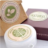 bolsas de tela de cumpleaños al por mayor-Venta al por mayor- 900 etiquetas de sello de regalo natural 100% orgánico, etiquetas de embalaje de panadería de bodas / GS-141 al por mayor