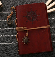 Wholesale Wholesale Leather Binders - Wholesale- Retro Personality Notebooks Journal Notepads Ring Binder Diary Notebook Dark coffee S
