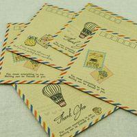 Wholesale Airmail Postcard - Wholesale- Hot Sale Thin Section Airmail Envelope Postcards Protection 17.5*12.5cm Wholesale Business Kraft Envelope Stationery Letter PL