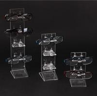 Wholesale Eyeglasses Rack - New Three Models Layers Eyeglasses Sunglasses Acrylic Glasses Display Stand Rack Holder Shelf