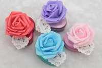 Wholesale Big Candy Boxes - Big Flowers With Heart Tin Candy Boxes Free Shipping Favor Holders Wedding Events Beautiful Style wen4345