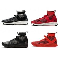 Wholesale flat leopard print boots - 2017 Wholesale High Quality Ignite Evoknit Primeknit PK Men and Women boots Shoes Fashion Red Black Grey 189697