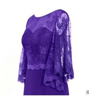 Wholesale Embroidered Evening Mother Dress - vestido de festa longo New Half Sleeve Evening Gowns Long Royal Blue The Mother Of Bride Dress Plus Size Prom Dresses