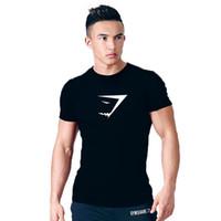 Wholesale Gray Burst - 2017 bursts of gymshark fitness T-shirt elastic short-sleeved men's T-shirt