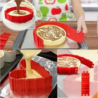 наборы для выпечки оптовых-4 шт. / компл. DIY Силиконовый торт выпечки квадратный прямоугольный круглая форма плесень магия формы для выпечки выпекать змея Molud кондитерские инструменты