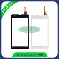 Wholesale Glasses Sp - High Quality For Sony Xperia SP C5302 C5303 C5306 M35h Touch Screen Digitizer Sensor Panel Front Glass Lens Black and White