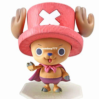 chapéus cor-de-rosa do superman venda por atacado-Funko pop um pedaço superman tony chopper chapeamento cereja chapéu rosa figura de ação japão anime kids presentes toy 10 cm # e
